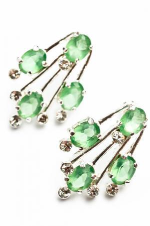 Серьги ZAXA HADID. Цвет: зеленый