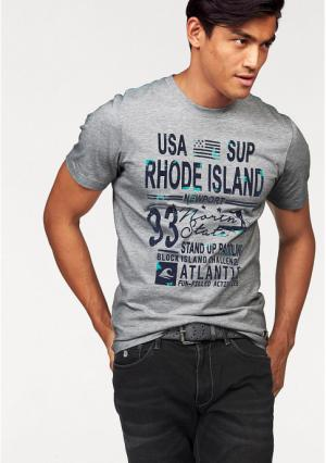 Футболка Rhode Island. Цвет: светло-серый/меланжевый