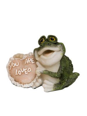 Фигура мал. Лягушка Ты моя любовь Sealmark. Цвет: зеленый