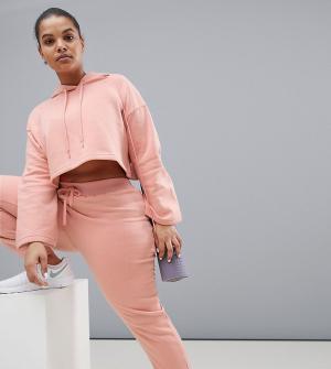 South Beach Розовые джоггеры Plus. Цвет: розовый