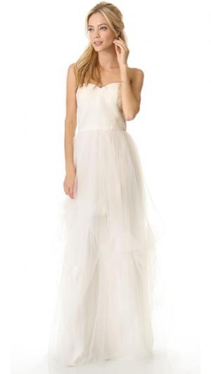 Вечернее платье Dovey без бретелек Love, Yu. Цвет: серый