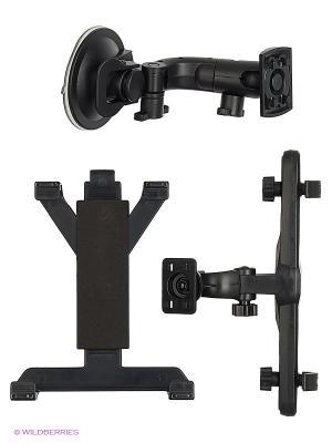 Держатель для планшета/iPad на стекло и подголовник KDS-2TP WIIIX. Цвет: черный