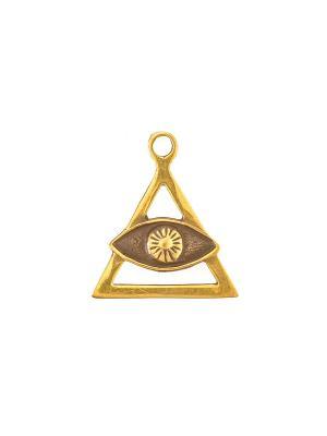 Амулет защитный Око Божественной Мудрости Aztek. Цвет: желтый