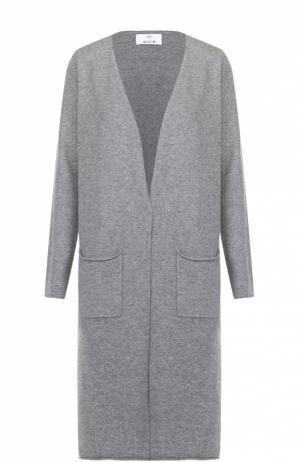 Удлиненный кашемировый кардиган с накладными карманами Allude. Цвет: серый