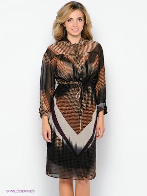 Платье Forus. Цвет: черный, темно-коричневый, сливовый, кремовый