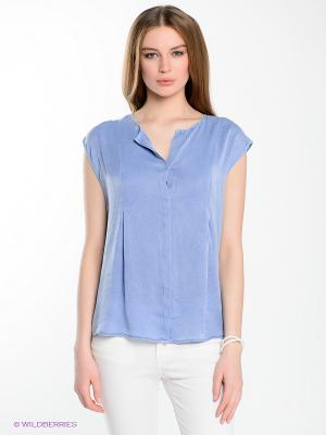 Блузка Yerse. Цвет: голубой