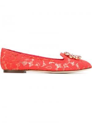Слиперы Vally Dolce & Gabbana. Цвет: красный
