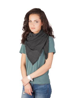 Платок Элеганс (темно-серый) Le Motif Couture. Цвет: темно-серый