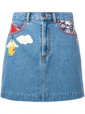 Джинсовая мини-юбка Marc Jacobs. Цвет: синий