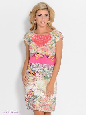 Платье Rene Derhy. Цвет: молочный, бледно-розовый, розовый