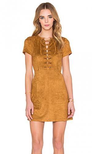 Платье love child RISE OF DAWN. Цвет: коричневый