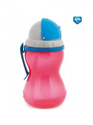 Поильник спортивный 370 мл, 12+, цвет: красный Canpol babies. Цвет: красный