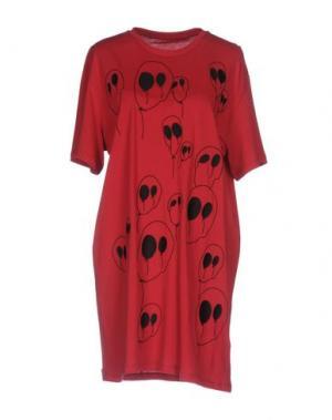 Короткое платье MALPH. Цвет: красный