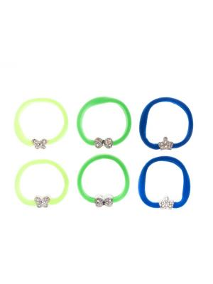 Резинка(6 шт) Bizon. Цвет: синий,зеленый,желтый