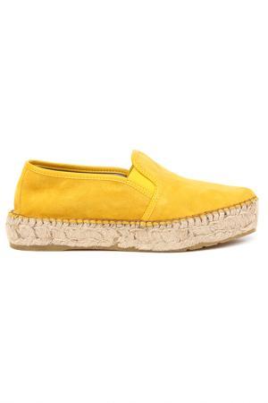 Эспадрильи DERI&MOD. Цвет: желтый
