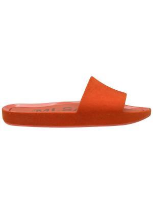 Шлепанцы Melissa. Цвет: оранжевый