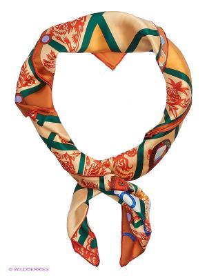 Платок Moltini. Цвет: оранжевый, зеленый