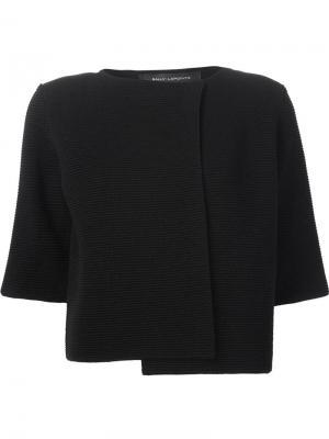 Укороченный трикотажный пиджак Sally Lapointe. Цвет: чёрный