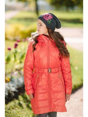 Пальто DUWALI. Цвет: красный