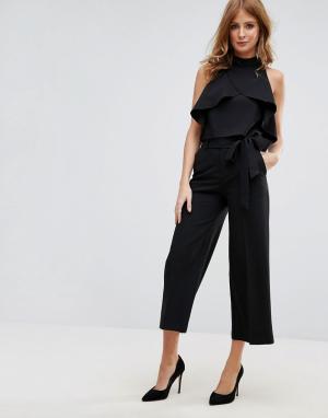 Millie Mackintosh Юбка-брюки с запахом спереди. Цвет: черный