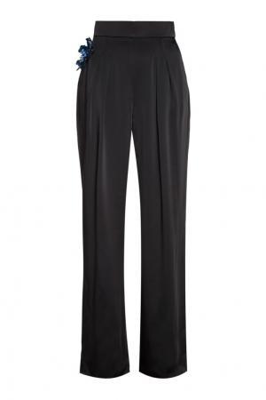 Широкие брюки с брошью Christopher Kane. Цвет: черный