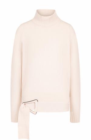 Шерстяной свитер с высоким воротником Carven. Цвет: светло-розовый