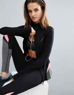 Elle Sport Спортивная куртка на молнии Sculpted. Цвет: черный