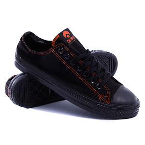 Кеды кроссовки  1904 Black/Orange/Black Osiris. Цвет: черный