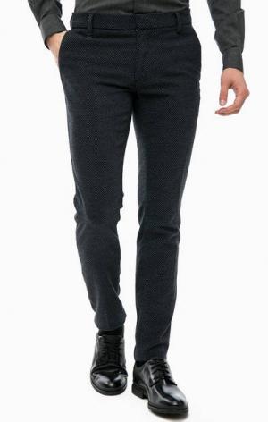 Хлопковые брюки зауженного кроя Antony Morato. Цвет: синий