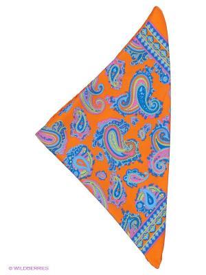 Платок-паше Troy collezione. Цвет: оранжевый, синий