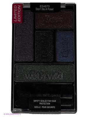 Тени для век набор (5 тонов) color icon eye shadow, Е34670 Wet n Wild. Цвет: темно-синий