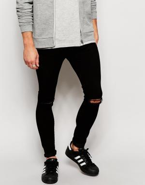 Brooklyn Supply Co. Черные джинсы скинни с рваными коленками Co. Цвет: черный