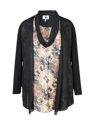Блузка KR. Цвет: черный, золотистый