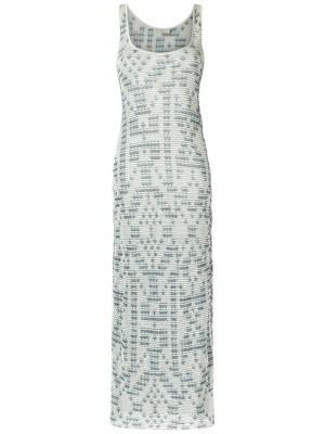 Трикотажное платье макси Cecilia Prado. Цвет: зелёный