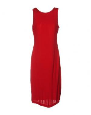 Платье длиной 3/4 BADGLEY MISCHKA. Цвет: красный