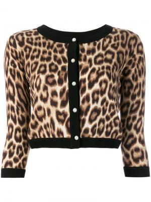 Кардиган с леопардовым принтом Twin-Set. Цвет: коричневый