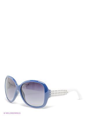 Солнцезащитные очки United Colors of Benetton. Цвет: синий, белый, черный