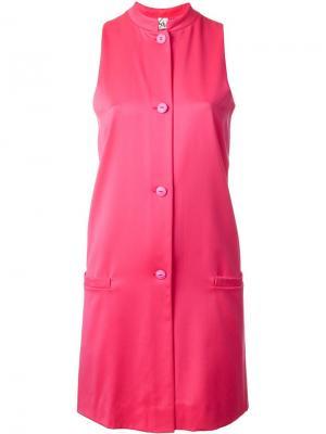 Платье без рукавов с застежкой на пуговицы Stephen Sprouse Vintage. Цвет: розовый и фиолетовый