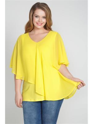 Блузка Bestiadonna. Цвет: желтый