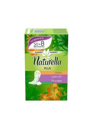 Ежедневные гигиенические прокладки на каждый день Calendula Tenderness Plus, 58шт. NATURELLA. Цвет: салатовый