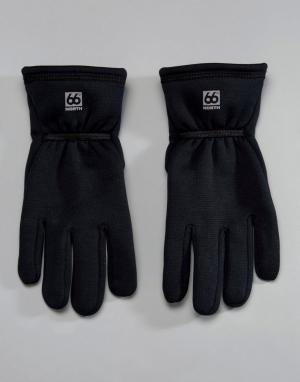 66o North Черные перчатки 66 Vik Windpro. Цвет: черный