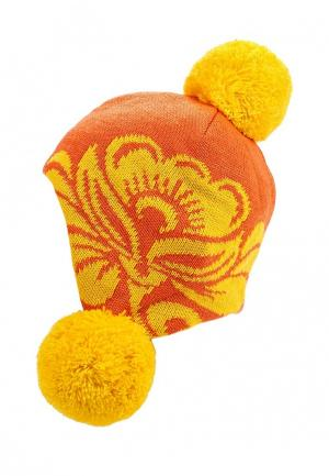 Шапка Vitacci. Цвет: оранжевый