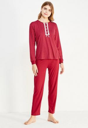Пижама Cootaiya. Цвет: бордовый