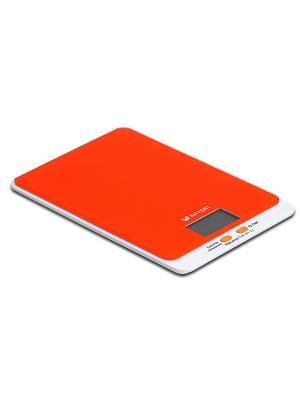 Весы кухонные КТ-803-5 оранжевые Kitfort. Цвет: оранжевый