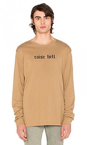 Футболка с длинным рукавом raise hell 424. Цвет: цвет загара