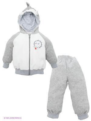 Спортивный костюм Лео. Цвет: серый, белый