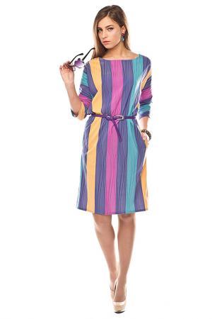Платье Sarafan. Цвет: желто-сирененвый