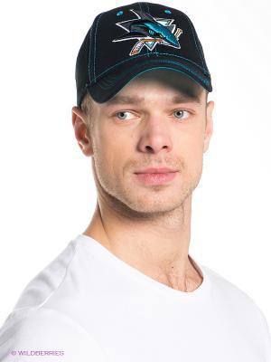 Бейсболка NHL San Jose Sharks Atributika & Club. Цвет: черный, бирюзовый
