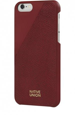 Чехол Clic Leather для iPhone 6/6s Native Union. Цвет: бордовый