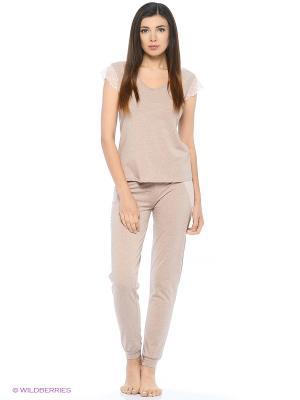 Пижама Lui et Elle. Цвет: серо-коричневый